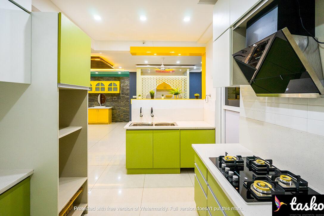 Cooking area in Modular Kitchen, Hyderabad