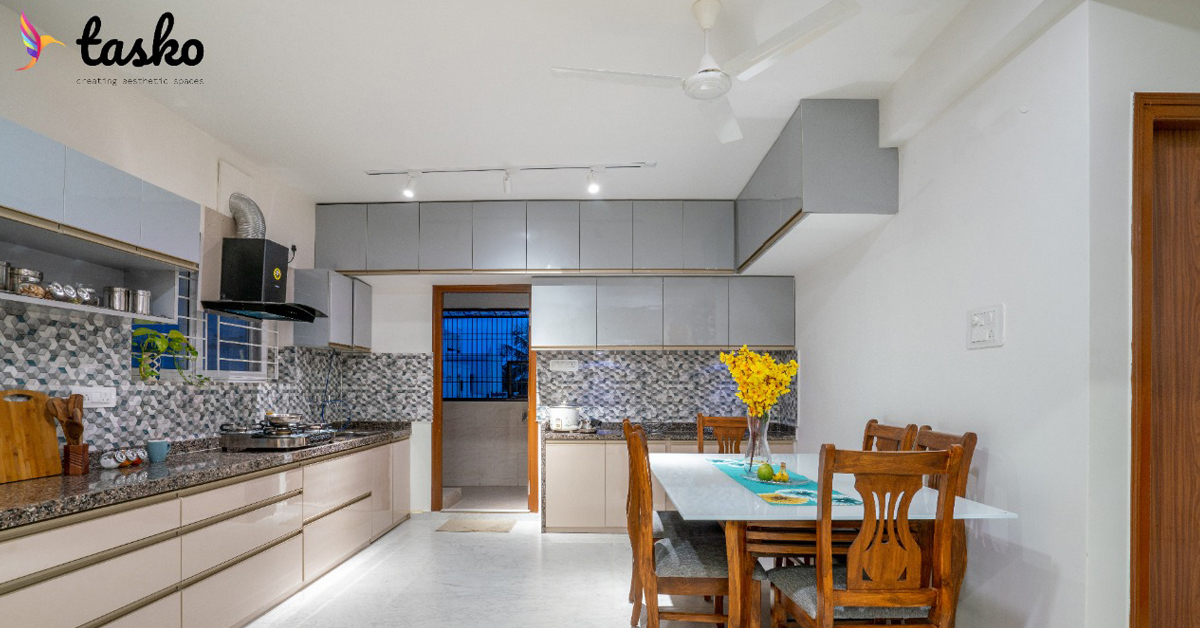 Modular Kitchen with Sitting Area In Amberpet