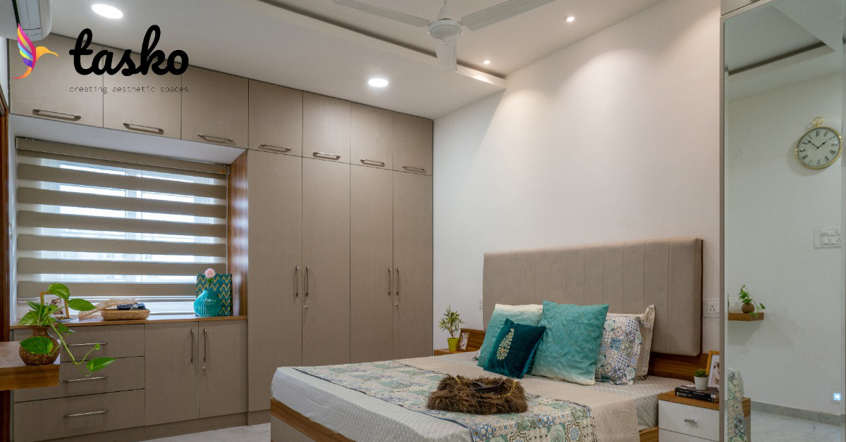 Contemporary bedroom design In Amberpet