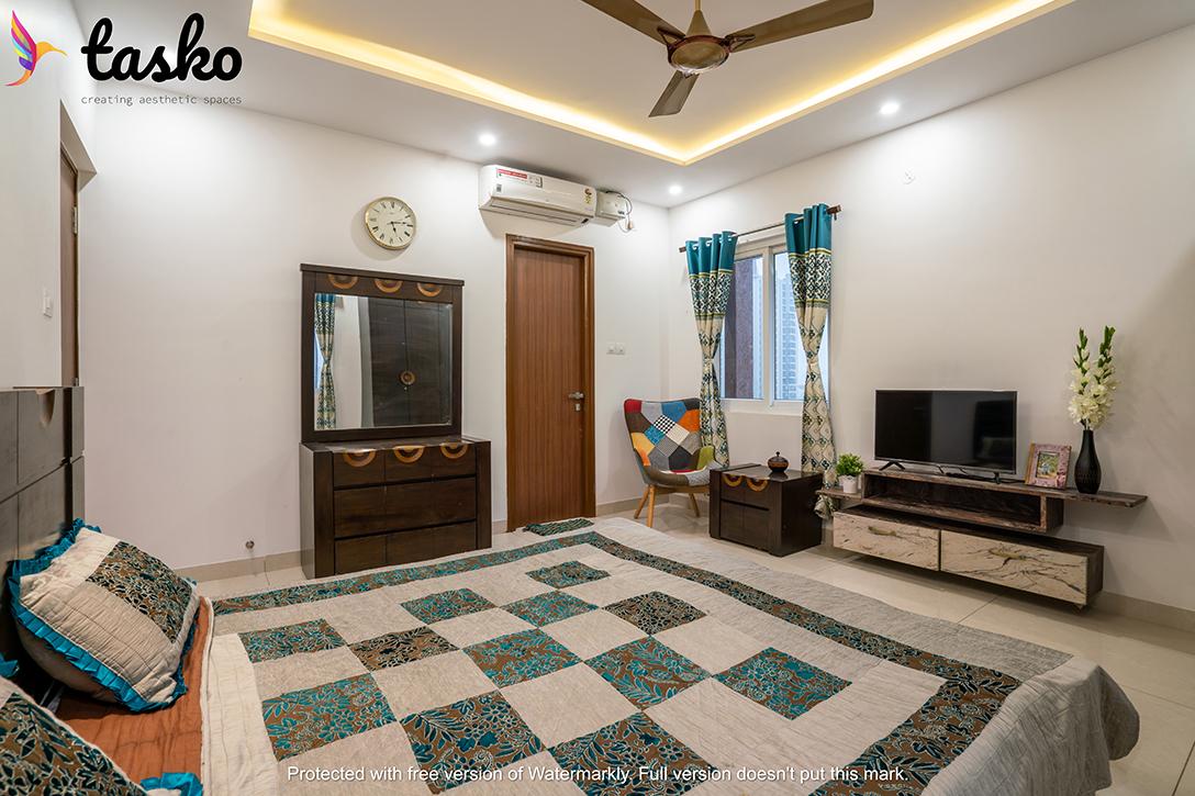 Master Bedroom interiors in Gachibowli