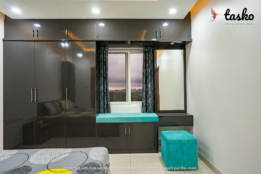 Brown color Cupboard design Kondapur