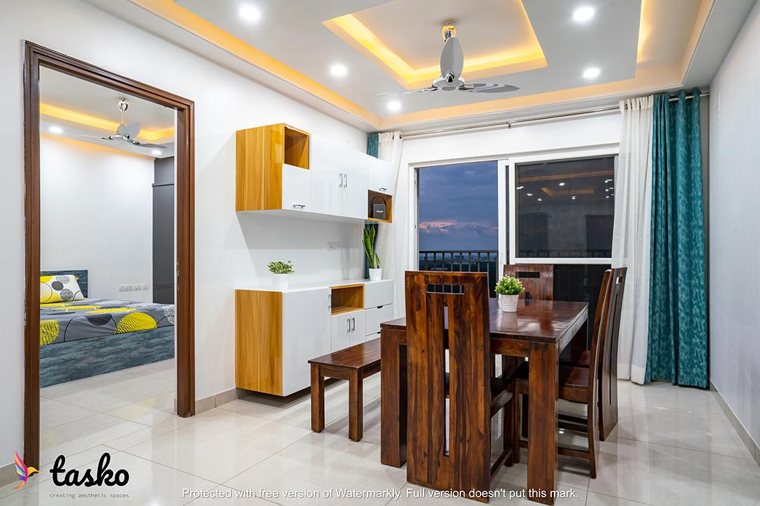 False Ceiling in Dining Area at Aparna Serene