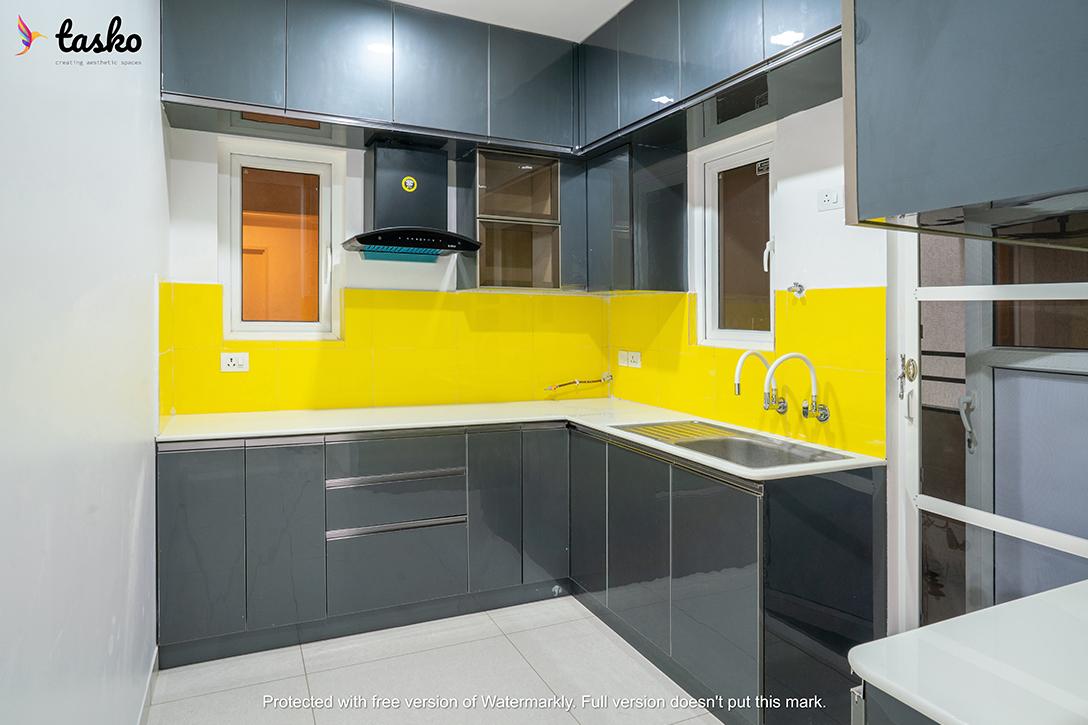 Kitchen design at Aparna Serene, Telangana
