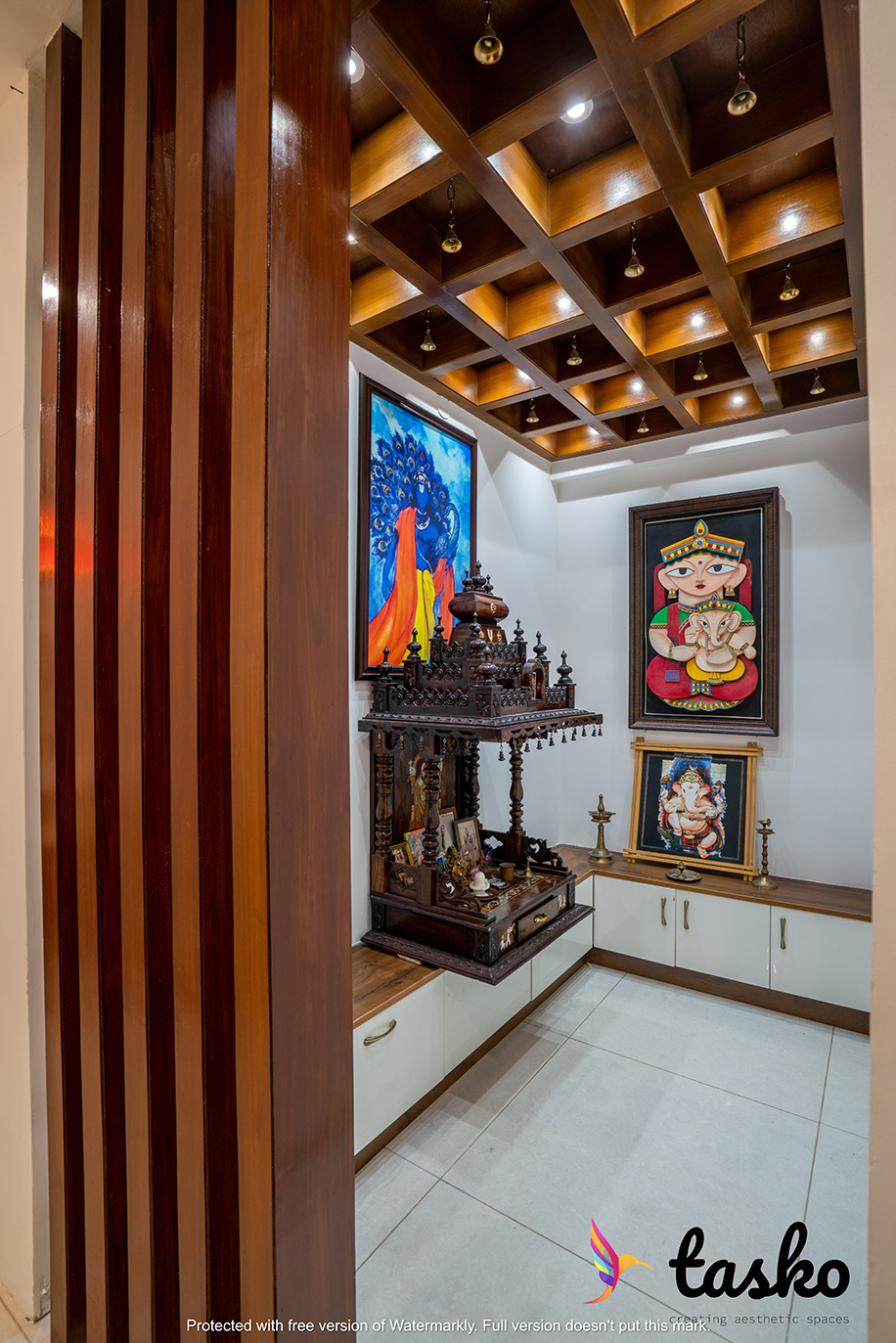 Puja room design in Gachibowli