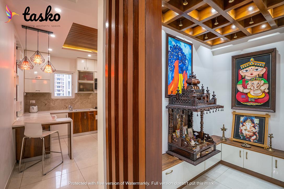 Best Puja room interior in Gachibowli
