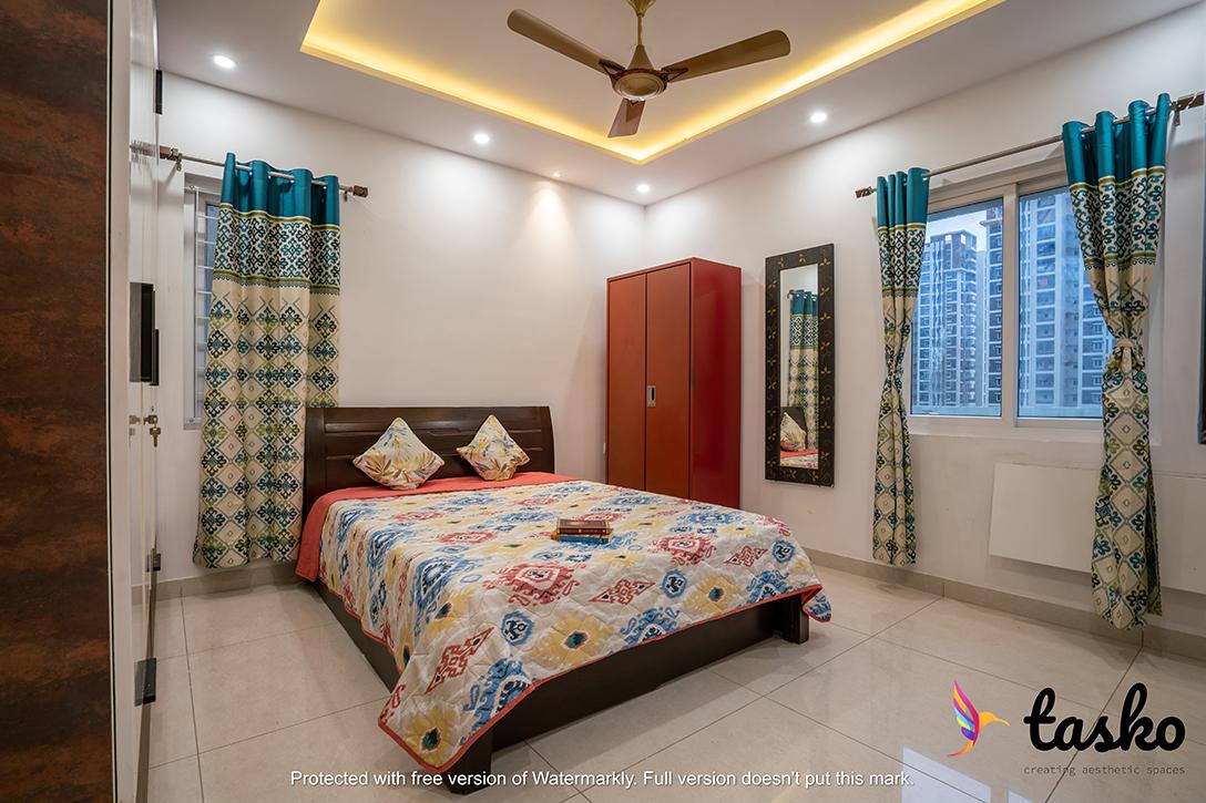 bedroom interior in Gachibowli